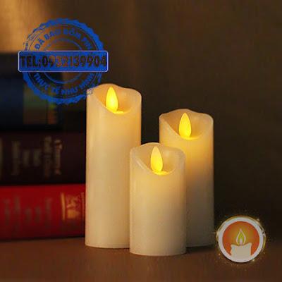 Nến led mini chất liệu sáp tim đèn lắc