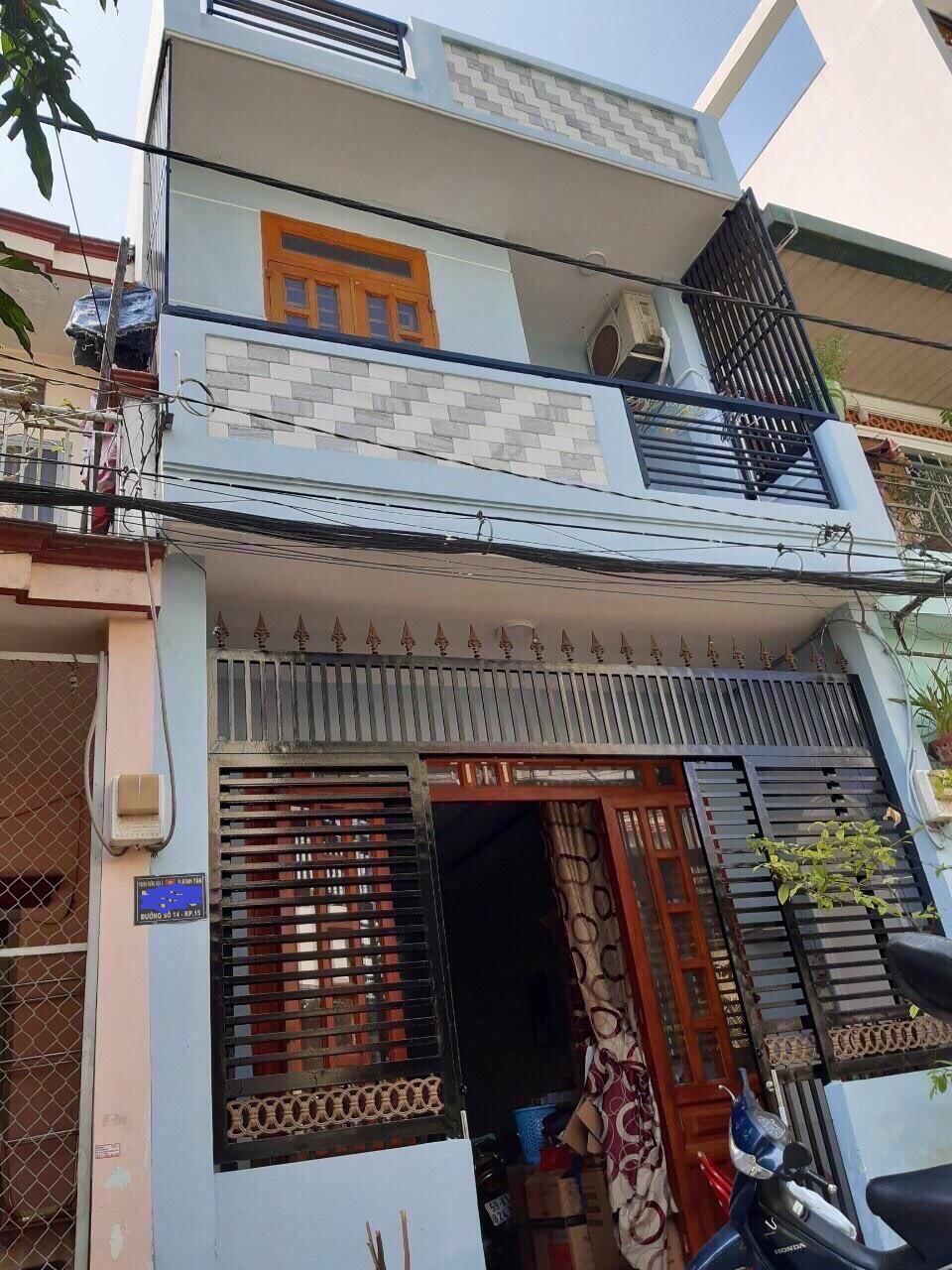 Bán nhà 1 lầu Đường số 14 phường Bình Hưng Hòa A quận Bình Tân 2020