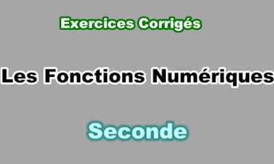 Exercices Corrigés  sur les Fonctions numériques Seconde PDF