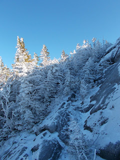Randonnée Jay mountain Adirondaks, versant enneigé