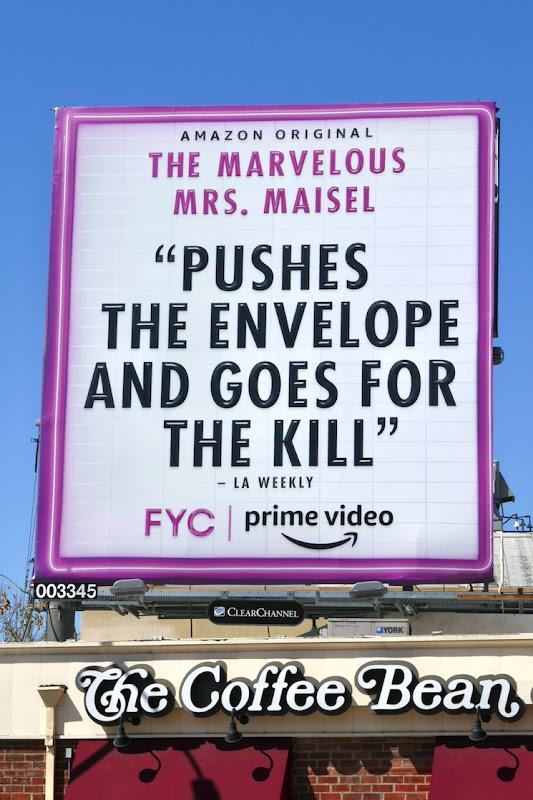 Mrs Maisel pushes the envelope FYC billboard