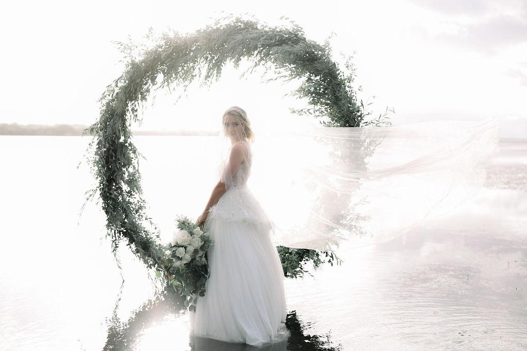 STYLED: COASTAL BRIDAL INSPIRATION   FLORAL INSTALLATION ARBOUR BRISBANE QLD