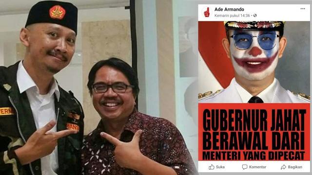 #TangkapAdeArmando Trending di Twitter, Gegara Unggah Foto Anies Berwajah Joker