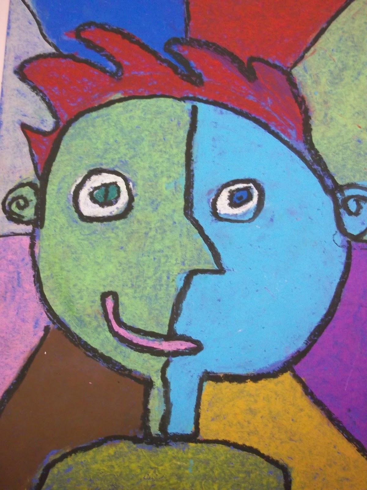 Art Kids of Benavidez Elementary: Self-Portraits - Picasso