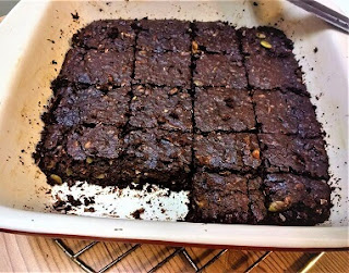 Right out oven Keto/Paleo Fudgy Brownies with Pumpkin Seeds and Macadamias (gluten-free, dairy-free, grain-free, lchf, sugar-free).jpg