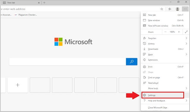 Change Download File Location in Edge. Step 1