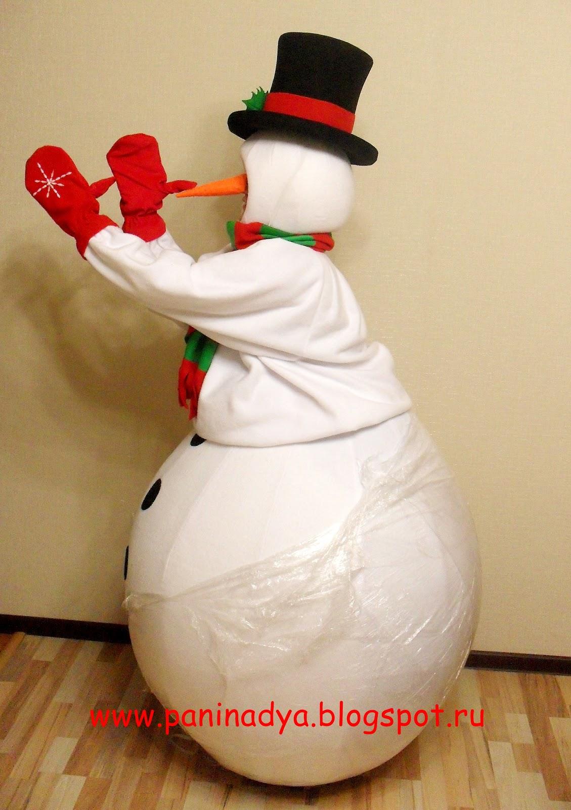 Как из подручных материалов сделать костюм снеговика (без) 99