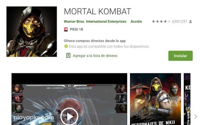 Descargar MORTAL KOMBAT X en android