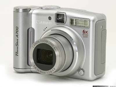 Kamera pocket Canon Power Shot A700. Foto : dpreview.