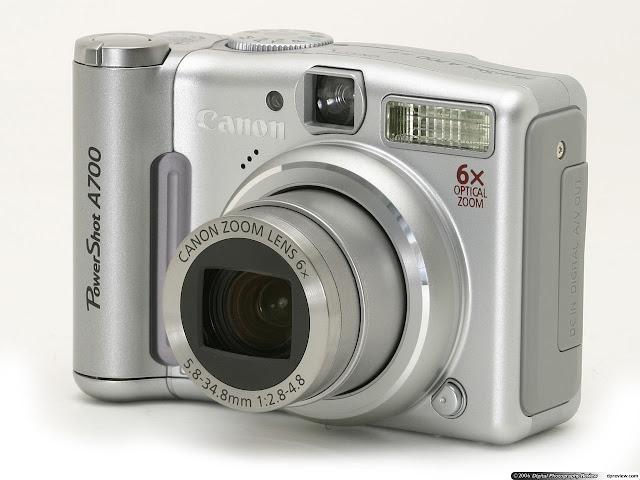 Kamera pocket Canon Power Shot A700. Foto : dpreview.