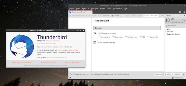 Mozilla lança nova versão do seu cliente de e-mail Thunderbird, que chega na versão 60