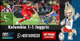 kolombia 1-1 inggris piala dunia 4 juli 2018