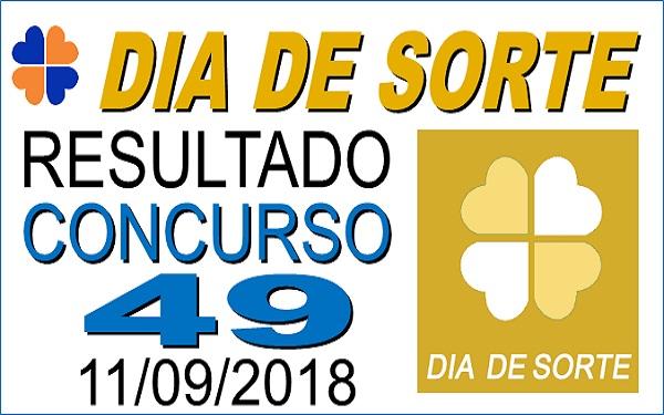 Resultado do Dia de Sorte concurso 49 de 11/09/2018 (Imagem: Informe Notícias)