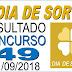 Resultado do Dia de Sorte concurso 49 (11/09/2018)