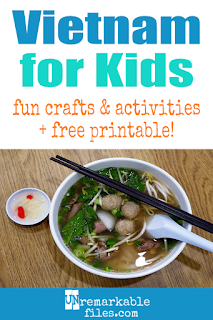 Learning about Vietnam is fun and hands-on with these free crafts, ideas, and activities for kids! #vietnam #educational