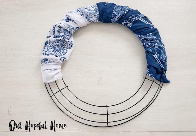 white bandana blue bandana