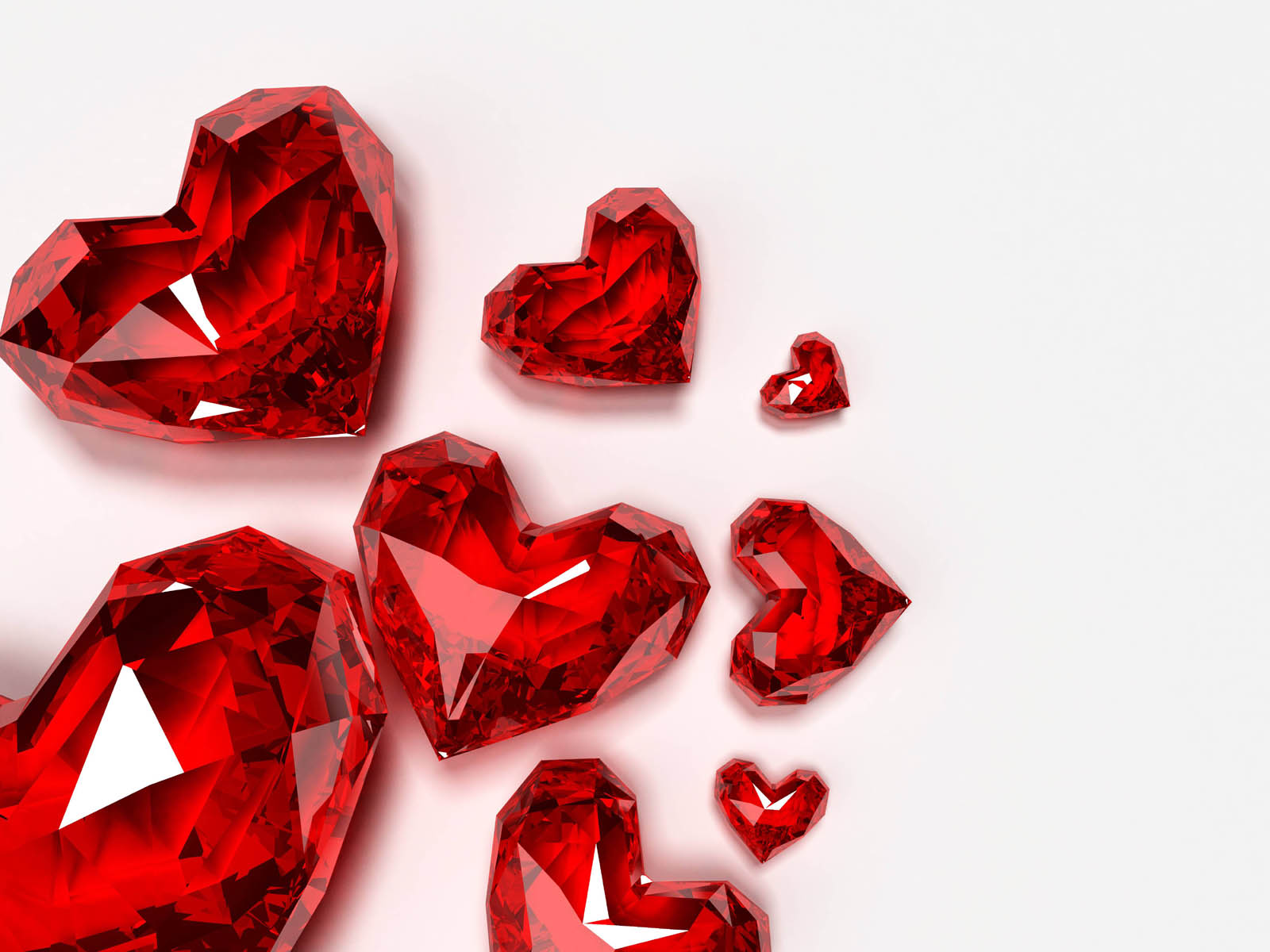 Wallpapers Crystal Red Hearts