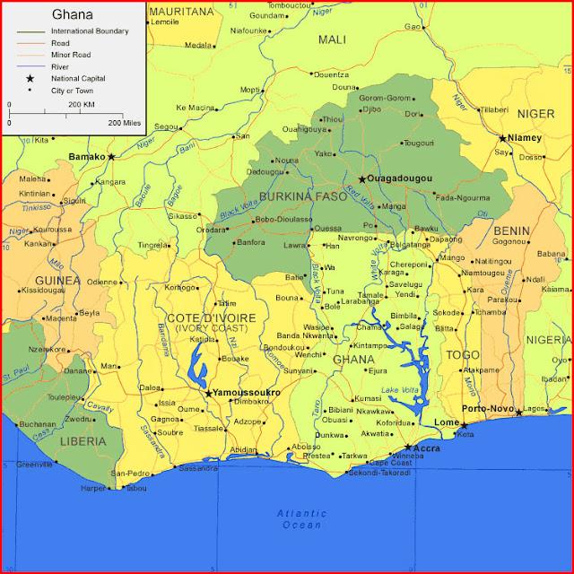 image: Map of Ghana