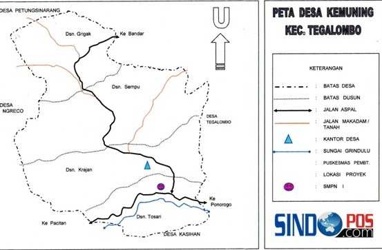 Profil Desa & Kelurahan, Desa Kemuning Kecamatan Tegalombo Kabupaten Pacitan