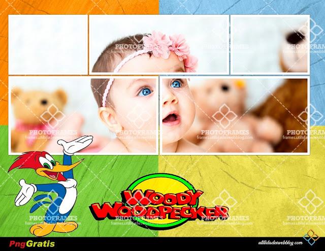 Horizontal Woody Woodpecker Kids Frame