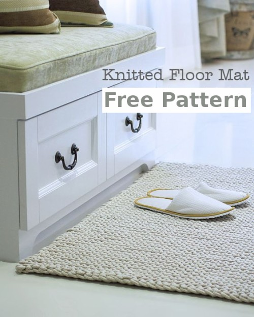 Floor Mat - Free Knitting Pattern