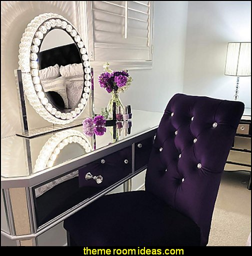 Hollywood Vanity Mirror With Lights, Crystal Makeup Mirror