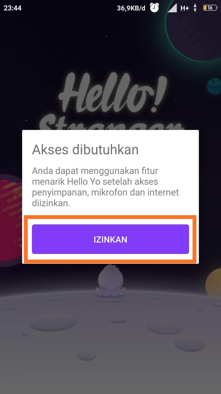fungsi aplikasi hello yo