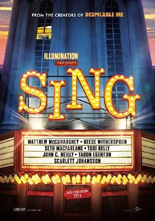 Sing 2016 Full English Movie HDRip 480p 300Mb