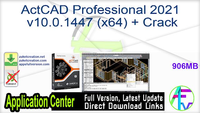ActCAD Professional 2021 v10.0.1447 (x64) + Crack