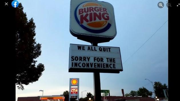 Viral! Pengumuman Aneh di Tiang Iklan Burger King, Semua Karyawan Berhenti? Ternyata Itu Bukan Trik Promosi Unik yang Kerap Dilakukan Burger King Tapi Merupakan Luapan Emosi Para Karyawannya