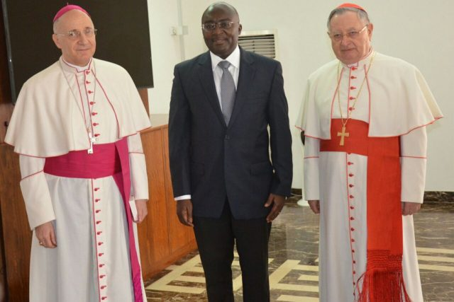 Vice Dr. Bawumia Receives Pope's special envoy to Ghana