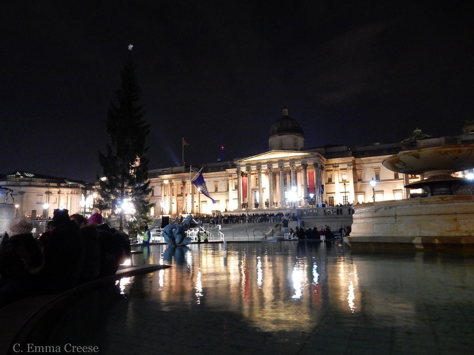 Trafalgar Square London Christmas Tree