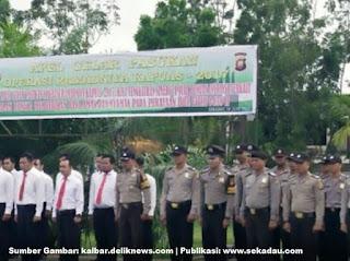 Polres Sekadau Menerjunkan 80 Personel dalam Operasi Ramadniya Kapuas