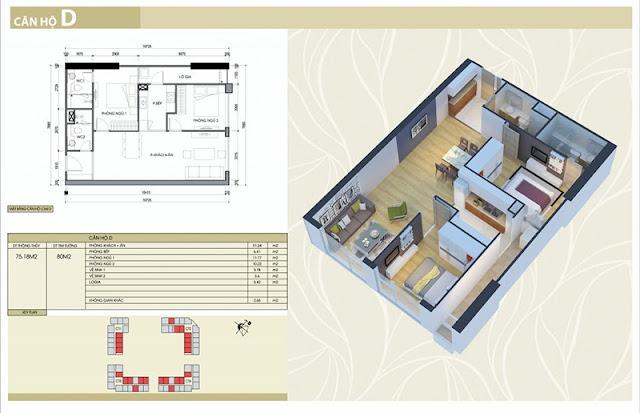 Thiết kế căn hộ D chung cư Eco Green City Nguyễn Xiển