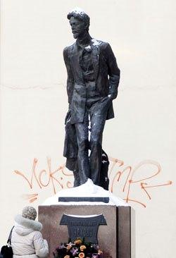 Foto al monumento de Anton Chejov