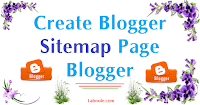create blogger sitemap page on Blogger blog image