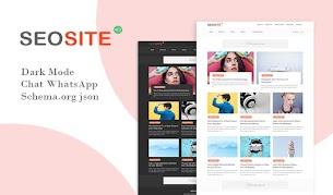 Modelo de Blogger responsivo do Seosite v1.3