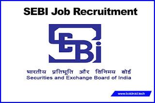 sebi recruitment 2020 notification, online apply