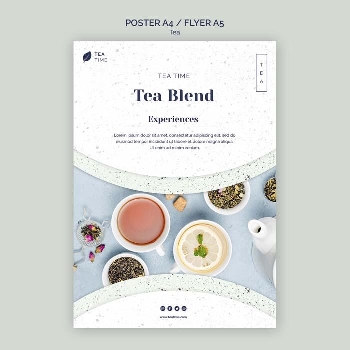 Flyer Tea Time PSD Template