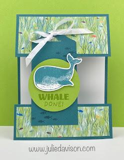 Stampin' Up! Whale Done Cut Apart Card + Video Tutorial ~ www.juleidavison.com #stampinup