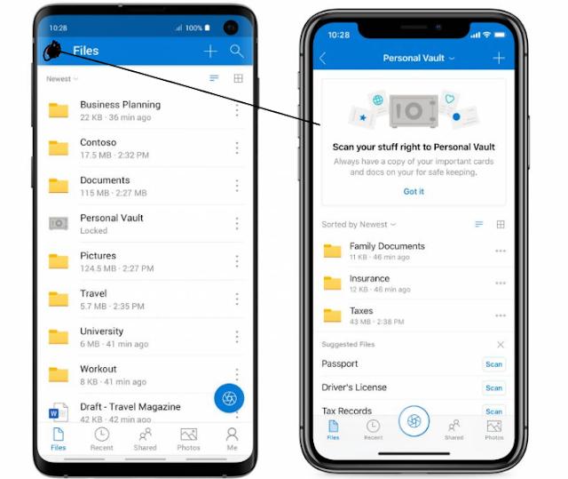 مايكروسوفت تعلن عن ميزة OneDrive Personal Vault لحماية ملفاتك السرية