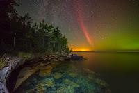 Proton Arc and Aurora over Lake Superior