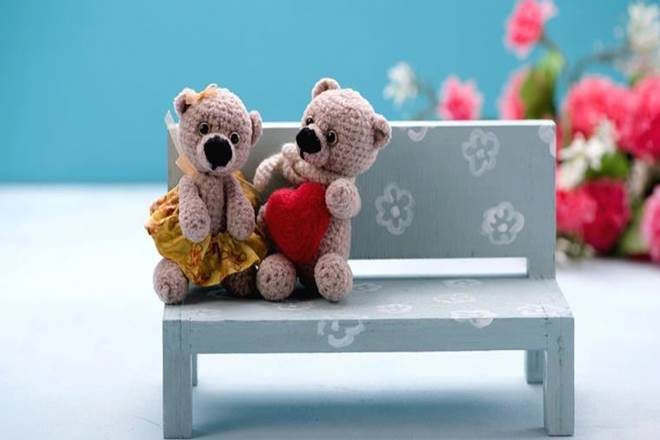 Beautiful Teddy Bear Couple Picture