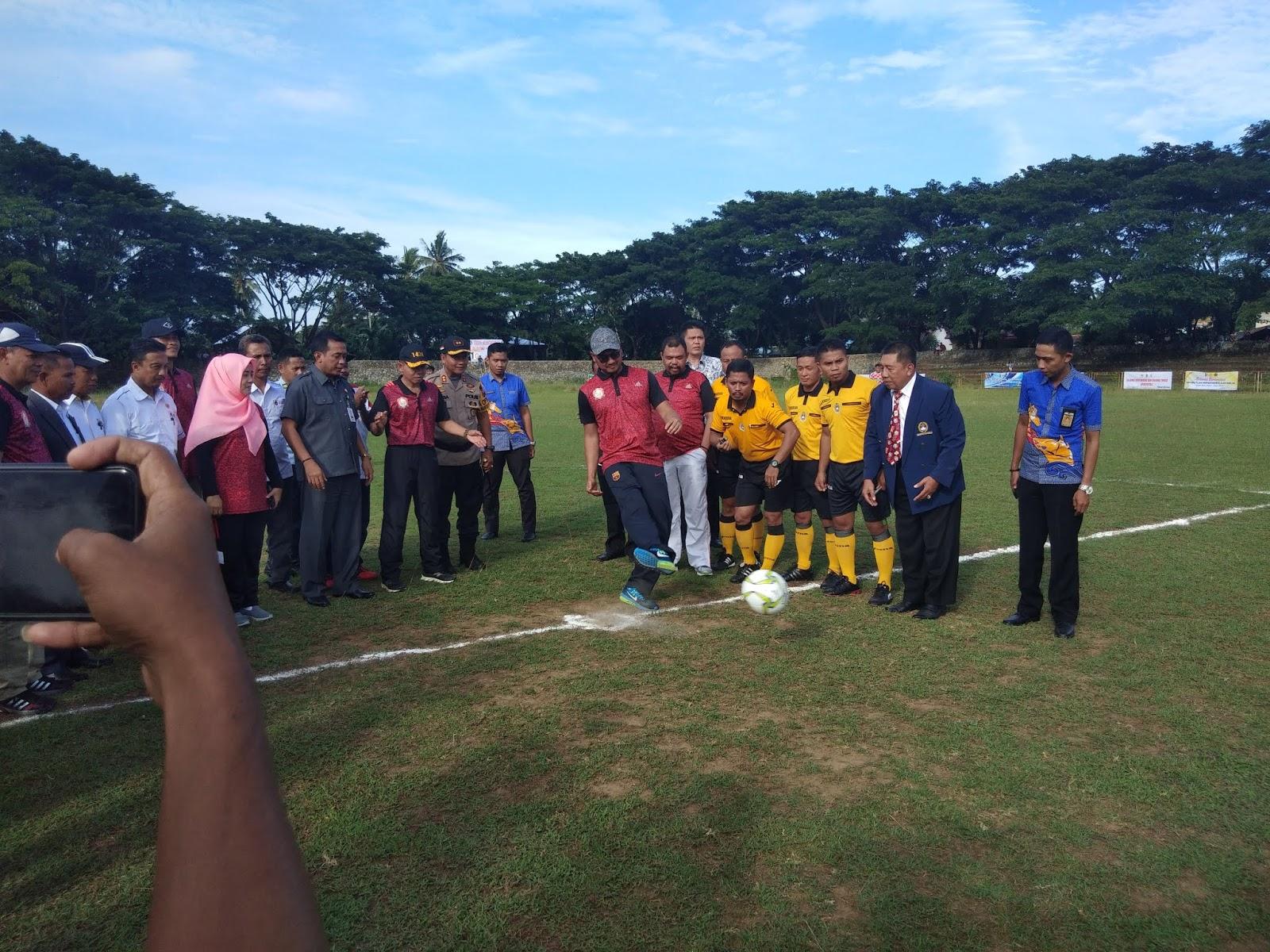 Kick Off,  Bupati Sinjai Resmi Buka Liga Sinjai 2019
