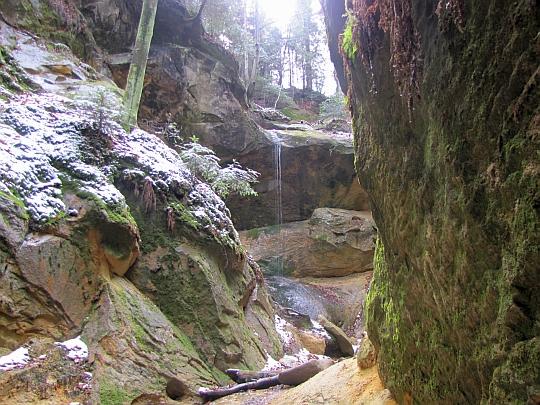 Wodospad w Wąwozie Czarownic