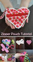 Sweet Heart Zip Pouch Tutorial