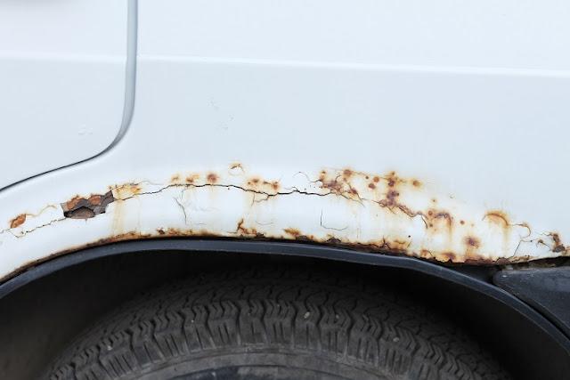 rust on car