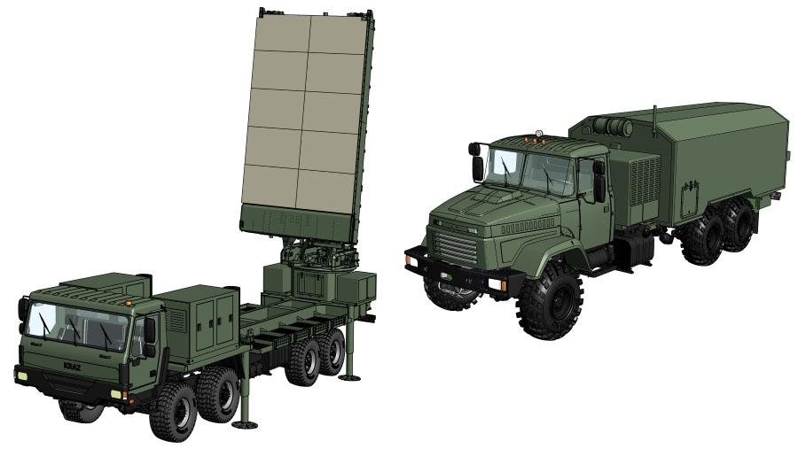 НВК «Іскра» розробляє два варіанти контрбатарейної РЛС – з різними передавачами та шасі