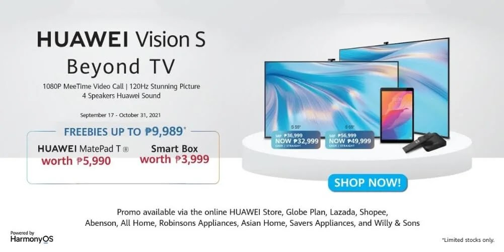 HUAWEI Vision S Smart TV Now Available via Globe Postpaid with Free MatePad T and Smart Box