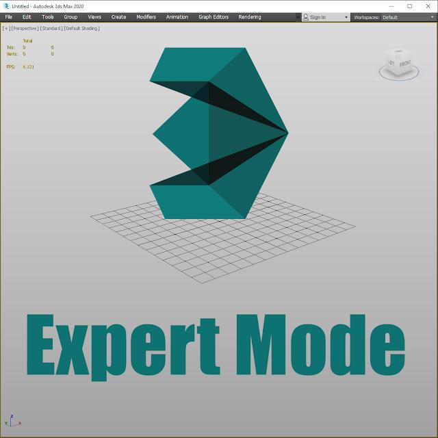 3Ds max режим эксперта минимализм удобный интерфейс продуктивная работа в 3дмакс моделирование